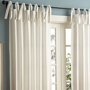 Pottery Barn • Textured Cotton Tie Top Curtains